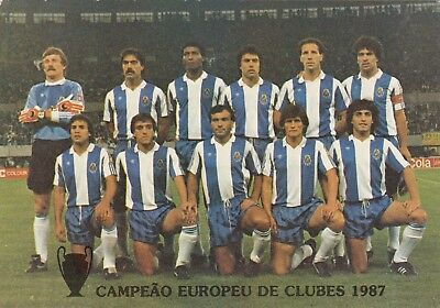 Calcio/Football Cartolina sq. PORTO 1987 originale