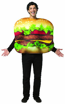 Get Real Cheeseburger Costume Adult One Size Fits Most