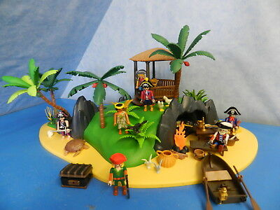 3799 Grosse Pirateninsel Piraten pirates Island Figuren Playmobil 5511