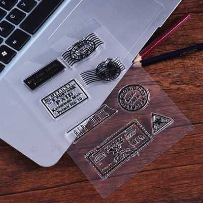 Postmark Transparent Clear Silicone Rubber Stamp Cling DIY Scrapbooking Card