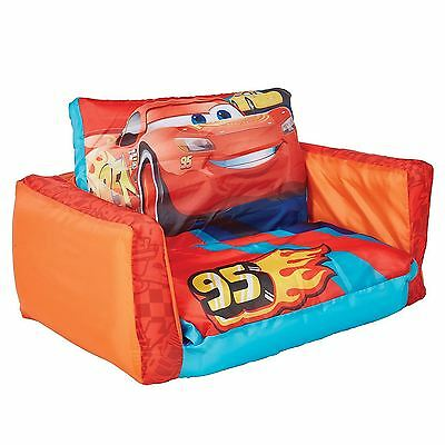 Disney Cars 3 Flip Out Sofa & Lounger 2 In 1 Inflatable Kids Childrens