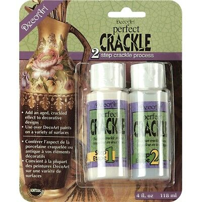 Perfect Crackle 2-step Medium-2oz - 2step Medium2oz Decoart Dapk88 2ounce Carded
