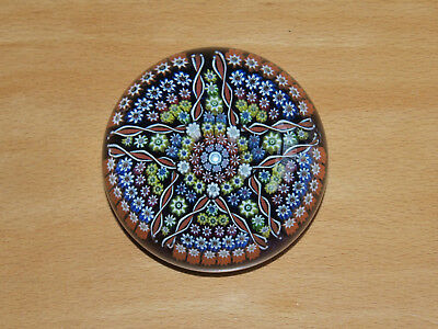 Beautiful Perthshire Scottish Millefiori Star Magnum Size Paperweight 1979