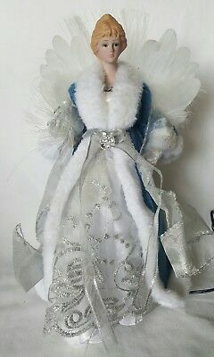 Fiber Optic Angel Christmas Tree Topper Color Changing Table Topper Blue&White