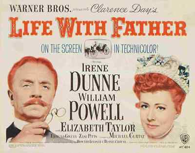 Life With Father 1947 02 Film A3 Box Canvas