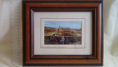 1032 Jim Woloney Framed & Signed Painting