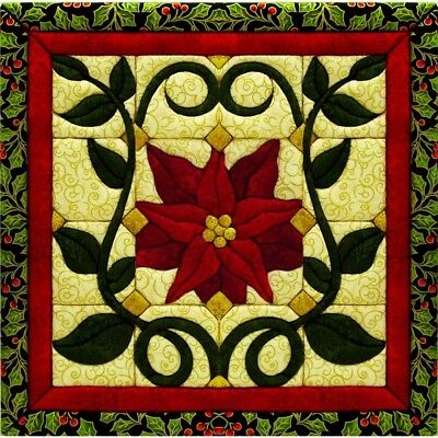 Quilt-magic No Sew Wall Hanging Kit-christmas Poinsettia - Christmas Quilt