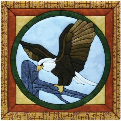 Quilt-magic No Sew Wall Hanging Kit-eagle - Quilt Magic Eagle 12 x 12inch