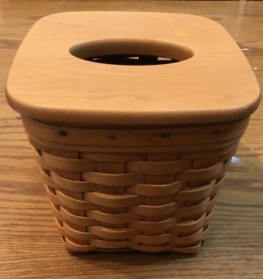 Longaberger Tall Tissue Woven Basket 2002