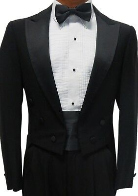 Black Costume Tuxedo Tailcoat Damaged Cheap Butler Coat Theater Tails Discount