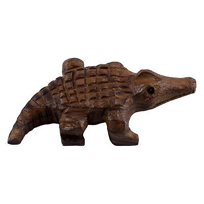 """Hand Carved Wood Wooden Ironwood Small Alligator Figurine 3"""" Long Made In USA"""