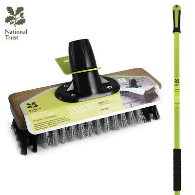 Charles Bentley National Trust Wire Broom Made of Wood PVC & Steel