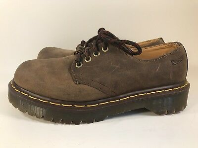 Dr Martens The Original Brown Leather Oxfords Size UK 6 Mens 7 Ladies 8