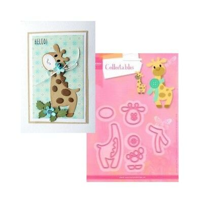 Giraffe Metal Die Cut Set Eline's Marianne Cutting Dies COL1386 Animals Zoo