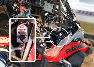 Optimate O-105 Double Sortie Din vers USB Chargeur pour BMW R1200GS R1200R