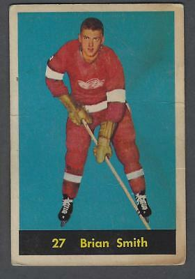 1960-61 Parkhurst Detroit Red Wings Hockey Card #27 Brian Smith RC
