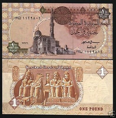 Egypt 1 Pound P50 1989 Sultan Mosque Temple Unc Money Bill African Bank Note