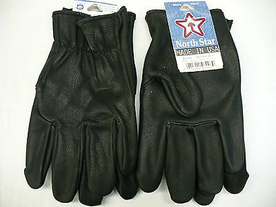 #700 Small Black Goatskin Leather Gloves MOTORCYCLE Police UNION made in the USA