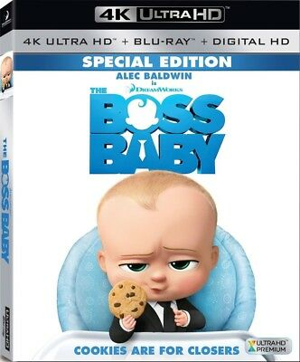 The Boss Baby (4K UltraHD, Blu-ray, 2017, Digital) NEW