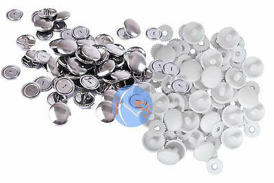 Hemline Self Cover Buttons Metal & Plastic. Sizes 11 15 19 22 29 38mm Available
