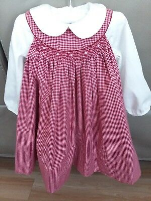 Petit Pomme 18m Smocked Dress and Blouse