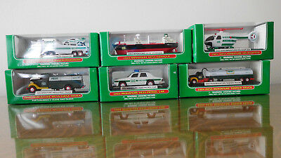 Collectible Miniature Hess Trucks 2000 2001 2002 2003 2004 2005 NEW IN BOX