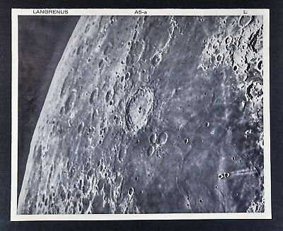 1960 Lunar Atlas Moon Map Photo Map - Langrenus B5-a Lick Observatory - Craters