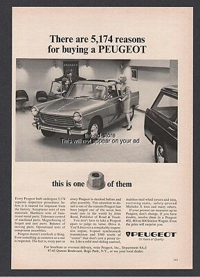 1964 Peugeot 404 Sedan 5,174 Reasons for Buying Quality Control Inspection Ad