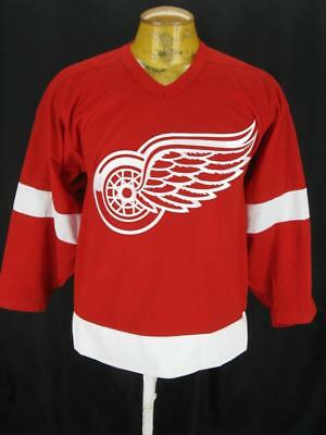 Mens Vintage Detroit Red Wings Sewn CCM NHL Hockey Jersey Shirt S Small