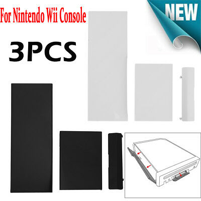 3pcs/set Plastic Replacement Door Slot Cover Lid kit for Nintendo Wii Console