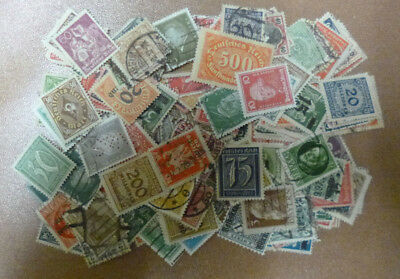 GERMANY 1872-1932 ERA STAMP COLLECTION PACKET of 200 DIFFERENT Stamps