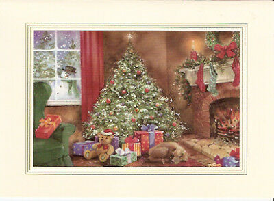 Weimaraner on Christmas Morn Christmas Cards Box of 16 Made in USA Weim