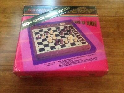 Vintage Gambit Chess Challenger Computer.New In Box.Free Post