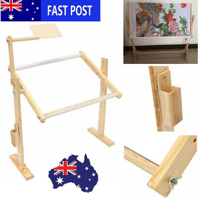 Cross Stitch Embroidery Frame Solid Wood Craft Adjustment Stand Holder 40x30x50