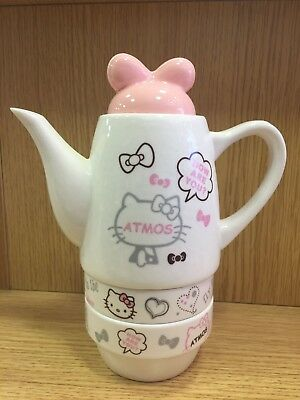 Tea Set Hello Kitty Cup Ceramics Creative Gifts Nice Pink And White Teapot NEW