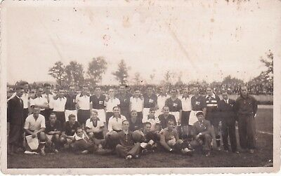 Calcio/Football Cartolina MILAN - BARCELLONA 1933 originale