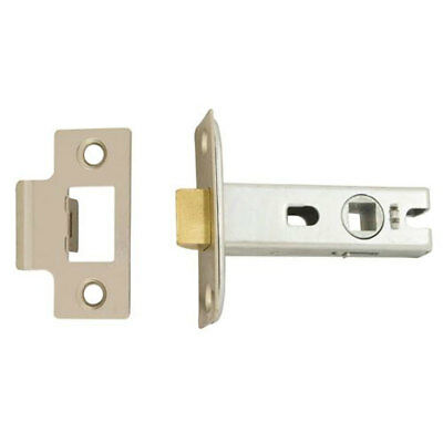 TSS Tubular Mortice Latch 65mm Satin Chrome (TSSTUBML25N)