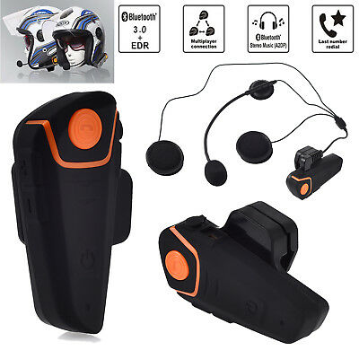 BT-S2 Bluetooth Motorcycle Helmet Intercom Headset Interphone GPS FM Radio 1000m