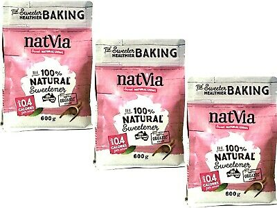 3 x 600g NatVia Sweetener Baking ( total 1.8kg )