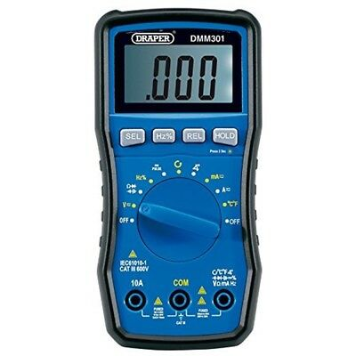Draper Dmm301 Automotive Digital Multimeter, Blue - Multimeter