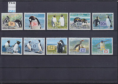 066548 Pinguine Penguins Falkland Islands Porto P 9-18 ** MNH Year 2005