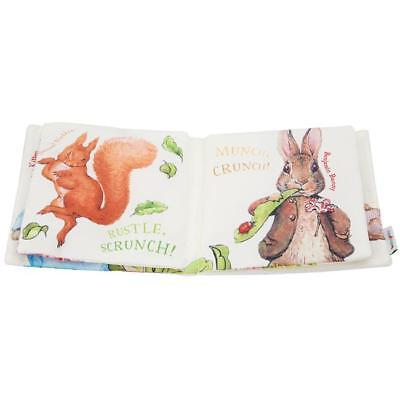 Baby Kids Night Night Peter Rabbit Soft Cloth Crinkle Book Toy Gift LC