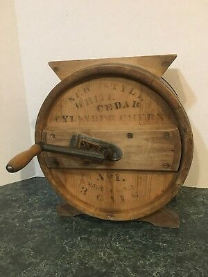 Vintage Cylinder Cheese Churn No.1 3 Gallon Excellent