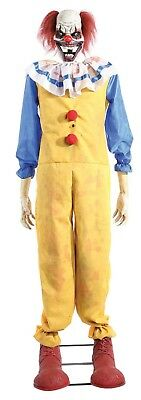 1.8m/6ft Animated Lights Sound Motion Twitching Clown Halloween Decoration Prop