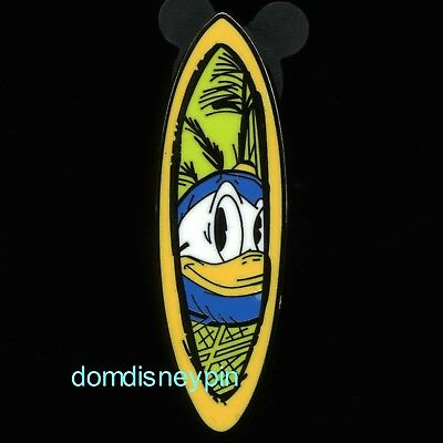 Disney Pin DCL Cruise Line Castaway Cay Surfboard Booster Set - Donald Duck!