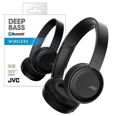JVC Folding Bluetooth Headphones with Microphone Bass Boost for Apple & Samsung