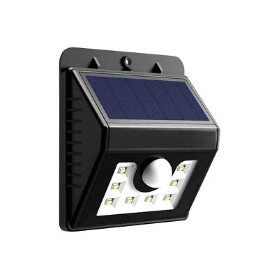 8 LED Solar Rechargeable Outdoor Light with PIR Motion Detection - High Output!