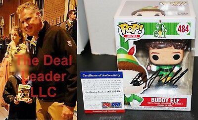 !! Will Ferrell Autographed Buddy Elf 484 Signed Funko Pop PSA JSA COA !!