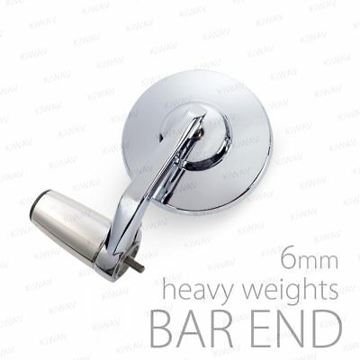 Stainles bar end chrome & mirrors Bob chrome M6 bolt-on for Vespa GTV300ie