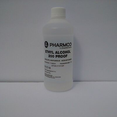 Ethyl Alcohol, 200 Proof, Anhydrous,USP/ACS 1 Pint, Non-Denatured, FOOD GRADE